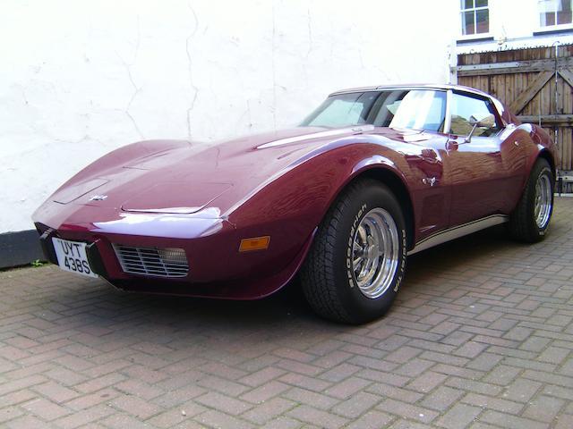 1976 Chevrolet Corvette 'Targa' Coupé  Chassis no. 1Z37L7S401958 Engine no. 1Z37L7S401958