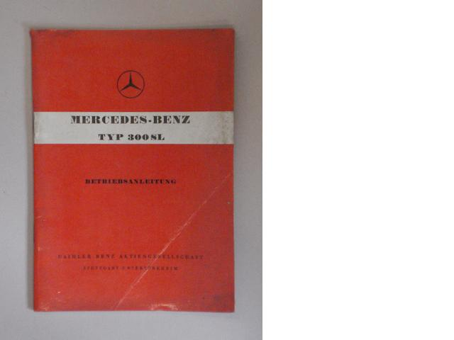 A Mercedes-Benz Typ 300SL manual,