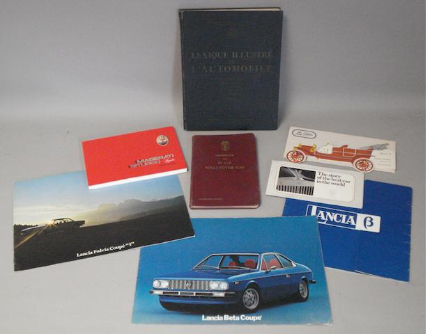 A good selection of motoring literature,