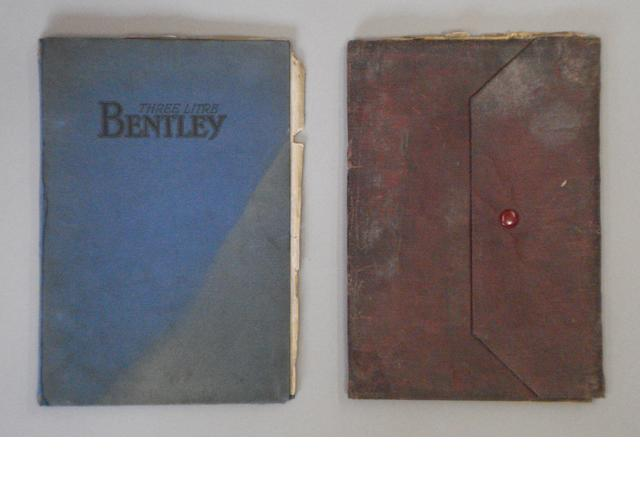 Two 3 litre Bentley instruction books,