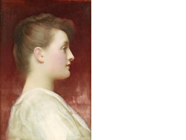 Frederic, Lord Leighton, PRA (British, 1830-1896) Girl in profile