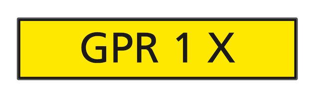 The  registration number 'GPR 1 X',