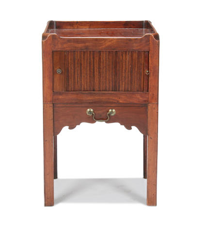 A George III mahogany night table