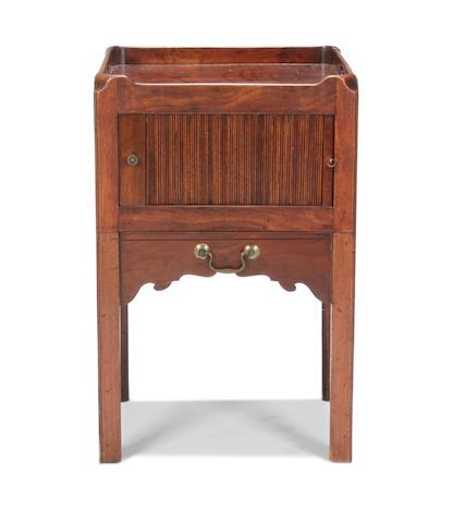 A George III mahogany night table