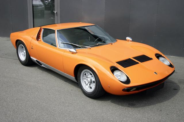 1970 Lamborghini Miura P400S Coupé  Chassis no. 4435 Engine no. 30477