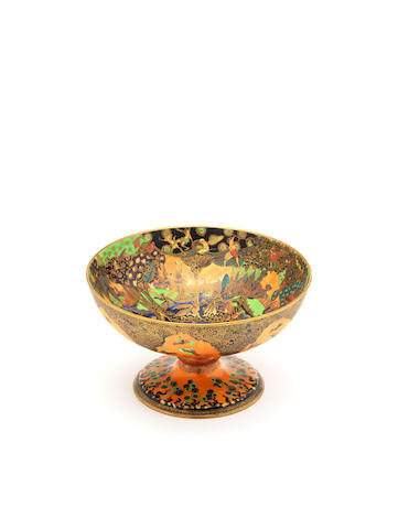 Daisy Makeig-Jones for Wedgwood 'Fairy Gondola' a Fairyland Flame-lustre Chalice Bowl, circa 1925