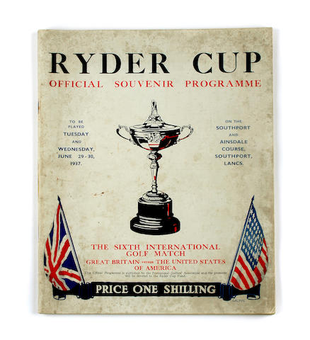 A very good condition 1937 Ryder Cup programme (Southport and Ainsdale)