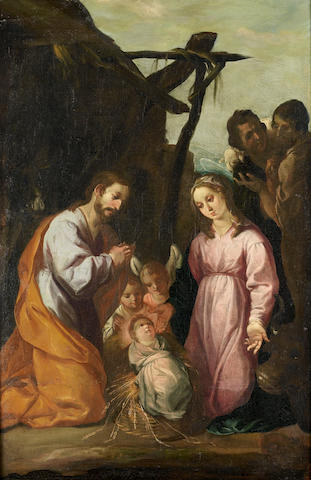 Spanish School, 17th Century The marriage of Joseph and Mary; and the Presentation of Jesus at the T