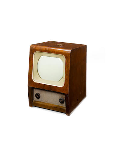 An HMV tyoe 1804 table model television,  1946,