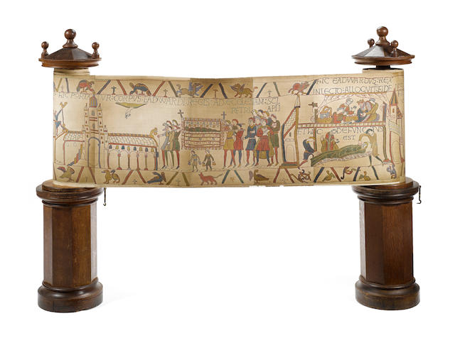 A large mechanical panorama of the Bayeux Tapestry,