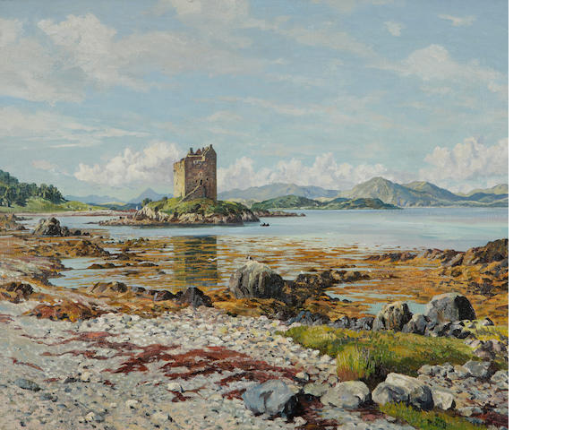 James McIntosh Patrick RSA ROI ARE LLD (British, 1907-1998) Castle Stalker (early 1950's)