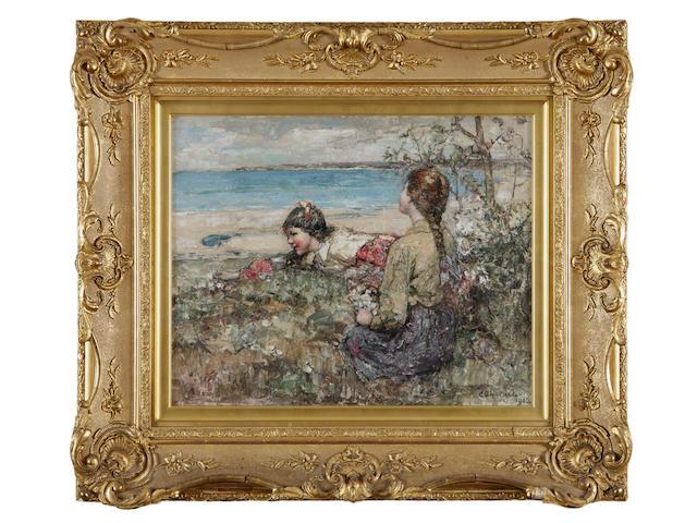 Edward Atkinson Hornel (British, 1864-1933) Brighouse belles