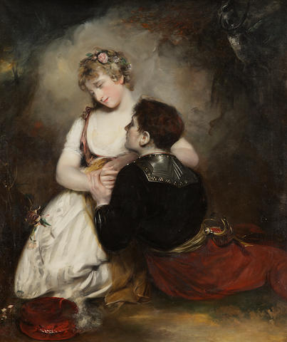 Sir John Watson Gordon, R.A. (British, 1788-1864) The Embrace