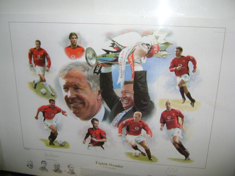 Ronaldo/Rooney/Ferguson hand signed prints
