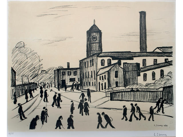 Laurence Stephen Lowry, R.A. (British, 1887-1976) 'A Northern Town',