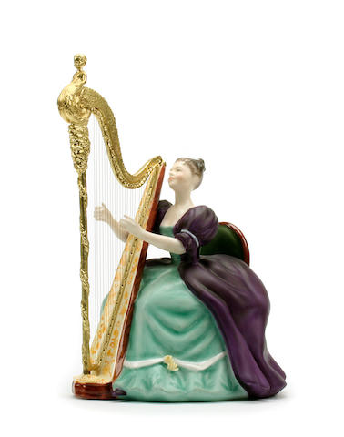 Figurines A Royal Doulton limited edition figure 'Harp'