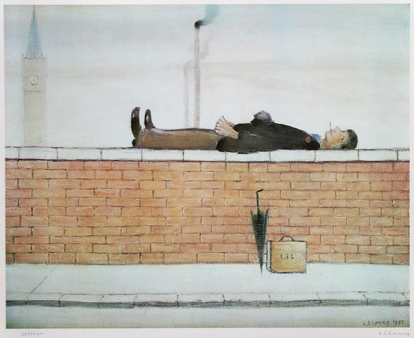 Laurence Stephen Lowry, R.A. (British, 1887-1976) 'Man on the Wall',