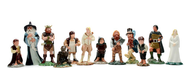 A set of twelve Royal Doulton 'Middle Earth' figures