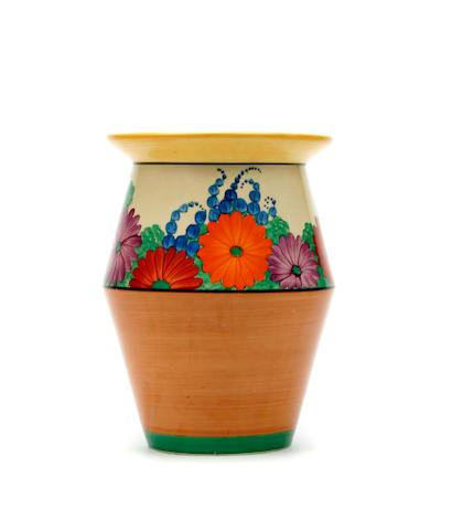 A Clarice Cliff 'Gayday' vase Circa 1930
