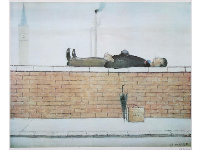 Laurence Stephen Lowry, R.A. (British, 1887-1976) 'Man on a Wall',
