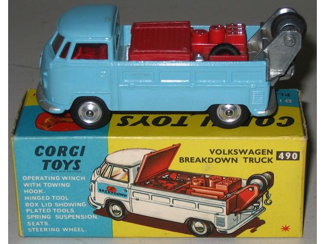Corgi pre-production colour trial 490 Volkswagen Breakdown Truck