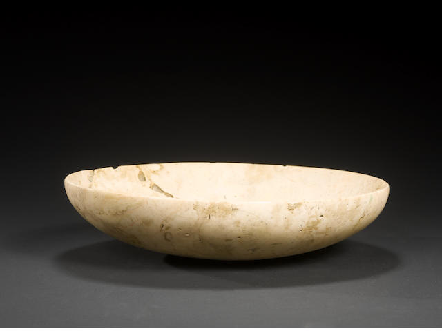 An Egyptian cream stone bowl