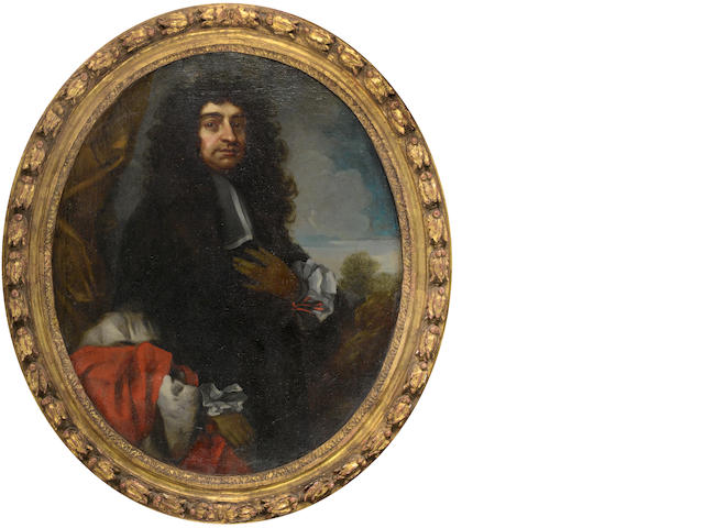 Studio of Antonio Verrio (Lecce circa 1639-1707 Hampton Court) Portrait of a gentleman, three-quarte