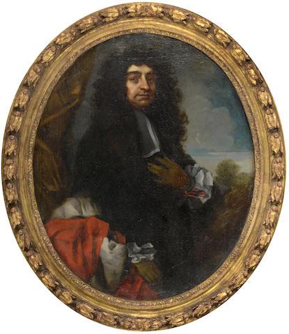 Studio of Antonio Verrio (Lecce circa 1639-1707 Hampton Court) Portrait of a gentleman, three-quarte