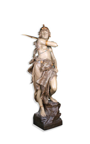 A Large Goldscheider figure of Boudica Circa 1900