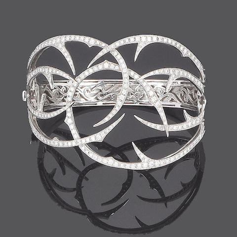 A diamond 'Thorn' bangle, by Stephen Webster