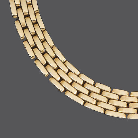 A fancy-link 'Panthére' necklace, by Cartier,