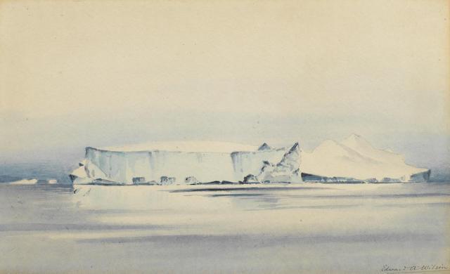 Dr Edward Adrian Wilson (British, 1872-1912) A large iceberg