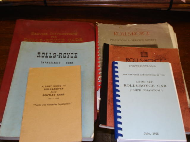 8 Rolls Royce Books, and manuals