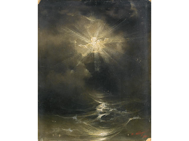 Ivan Konstantinovich Aivazovsky (Russian, 1817-1900) 'And the Spirit of God moved on the face of the waters'
