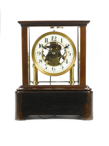 An early 20th century electric mantel timepiece Eureka Clock Co. Ltd. London Pat. No. 14614-1908, No