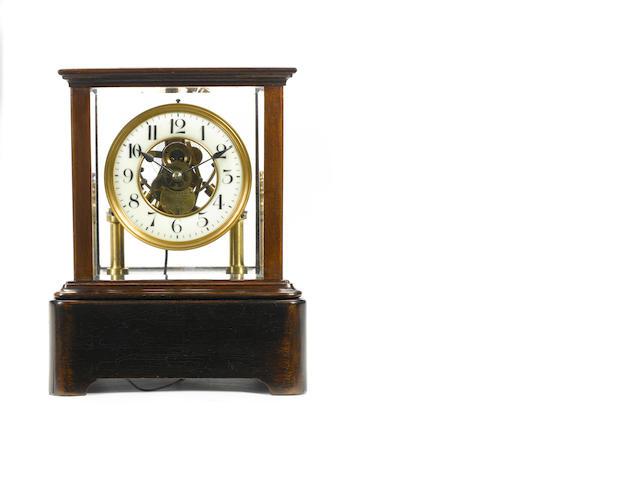 An early 20th century electric mantel timepiece Eureka Clock Co. Ltd. London Pat. No. 14614-1908, No