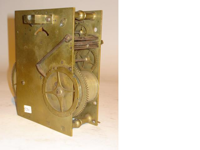 A late 17th century longcase clock movement