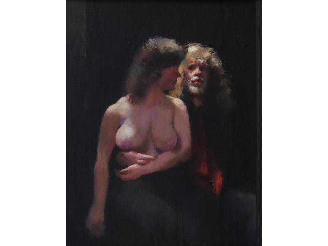 Robert O. Lenkiewicz (British, 1941-2002) 47 x 36.5cm