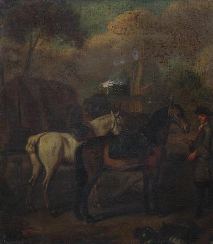 Circle of John Wootton (Snitterfield 1682-1764 London) 41.5 x 36cm