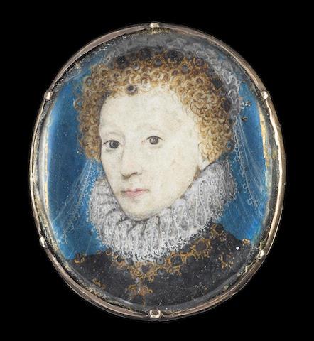 Nicholas Hilliard (British, 1547-1619) A Pair of portraits of Queen Elizabeth I and Robert Dudley