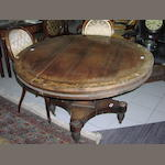 An unusual late Regency rosewood table, probably Scottish