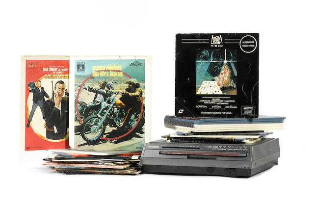 A GEC (McMichael) video laser disc player, type V5000H,