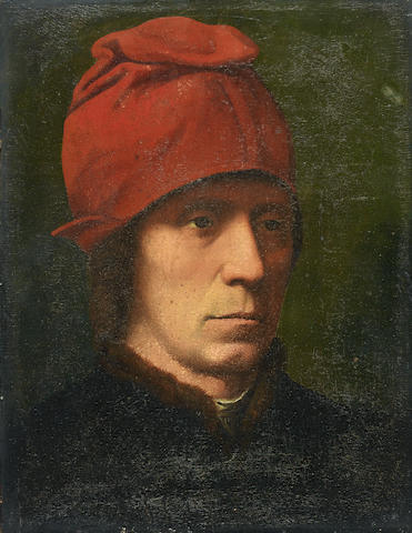 Follower of Hans Memling (Memlingen 1433-1494 Bruges) Portrait of a man,