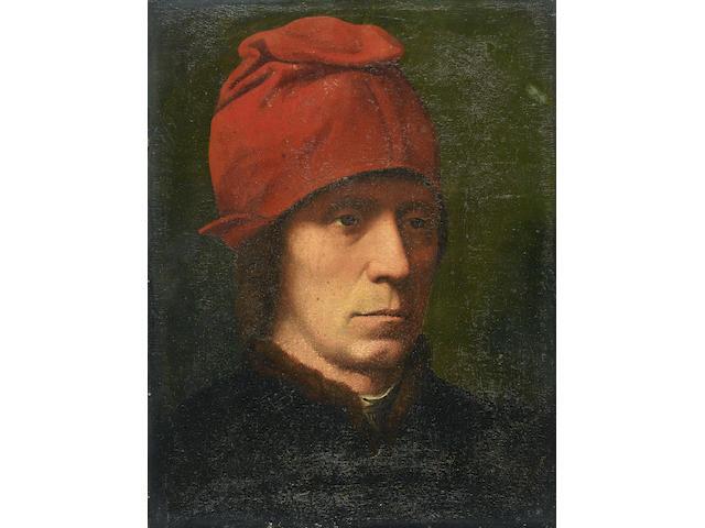 Manner of Hans Memling Portrait of a man,