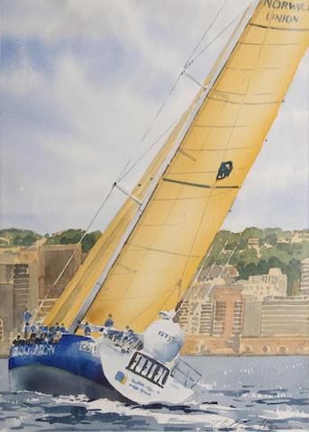 William Thomas (British, 20th/21st Century) Arrival at the harbour