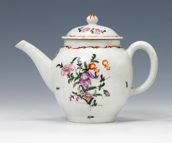 A Lowestoft teapot and cover Circa 1775.