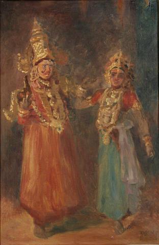 Hugo Vilfred Pedersen (Danish, 1870-1959) Indiske dansere