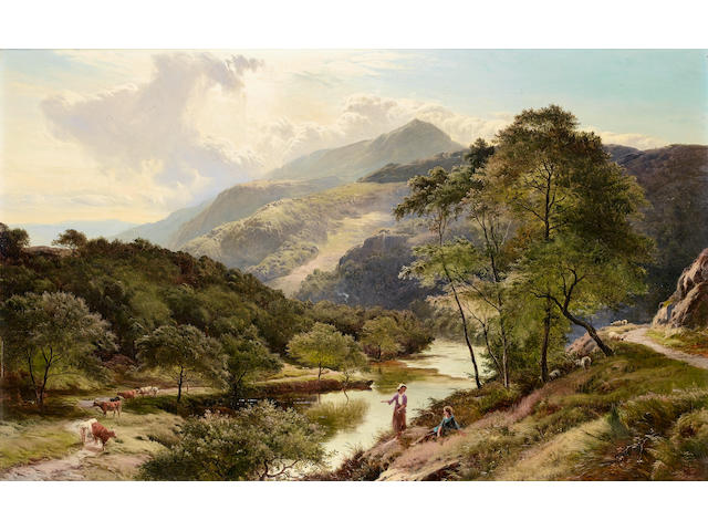 Sidney Richard Percy (British, 1821-1886) In the Valley of the Glaslyn, Wales