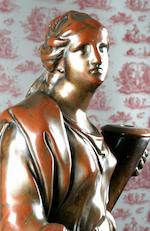 A rare Wood & Caldwell bronze glazed figure of Fortitude, circa 1790-1810