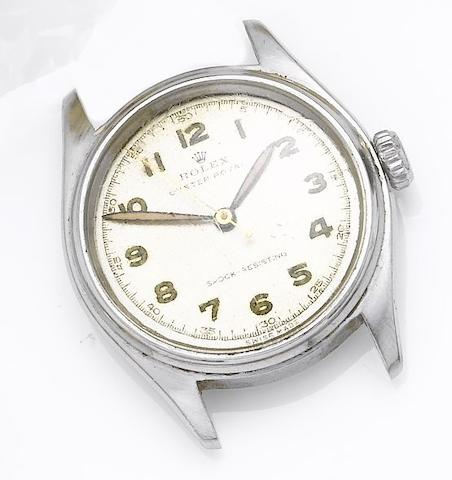 Rolex. A stainless steel centre seconds wristwatchOyster Royal, Ref:6044, 1950's
